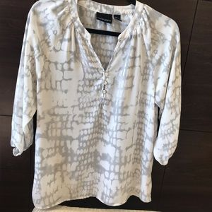 CYNTHIA ROWLEY Blouse with 3/4 sleeves, size XS